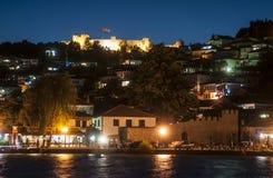Notte Repubblica Macedone Europa di Ocrida Fotografia Stock
