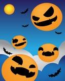 Notte rivolta verso l'alto del fondo di Halloween Fotografie Stock