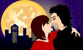 Notte romantica Illustrazione Vettoriale