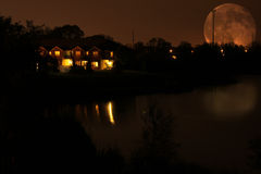Notte romantica Fotografia Stock Libera da Diritti