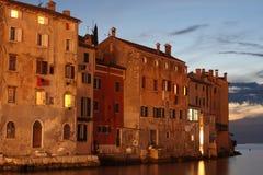 Notte in Rovigno Croazia Fotografia Stock