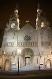 Notte San Francisco della chiesa cattolica del Peter del san Immagine Stock