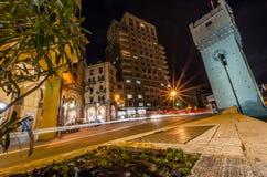 Notte a Savona immagini stock libere da diritti
