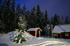 Notte scandinava Immagine Stock Libera da Diritti