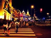 Notte a Schang-Hai Fotografie Stock Libere da Diritti