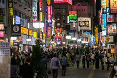 Notte in Shinjuku' distretto di s Kabuki-cho a Tokyo Fotografia Stock Libera da Diritti