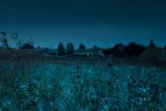 Notte silenziosa del paese Fotografia Stock Libera da Diritti