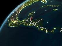 Notte sopra Belize Immagini Stock Libere da Diritti
