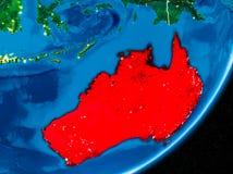 Notte sopra l'Australia Fotografie Stock Libere da Diritti