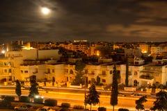 Notte sopra la città Immagine Stock