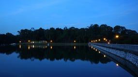 Notte sparata - bacino idrico 01 Fotografia Stock