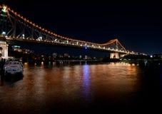 Notte sparata del ponte di storia Fotografia Stock