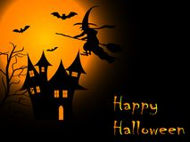 Notte spaventosa di Halloween Fotografia Stock