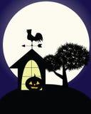 Notte spaventosa scura di Halloween Fotografia Stock