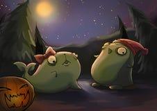 notte spettrale animale delle zombie Immagine Stock