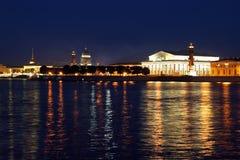Notte St Petersburg Immagine Stock