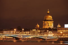 Notte St Petersburg Immagine Stock