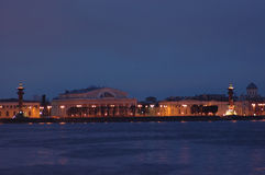 Notte St Petersburg dei musei Fotografia Stock Libera da Diritti