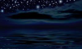 Notte stellata Immagine Stock