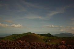 Notte stellata da Volcan Telica Fotografie Stock