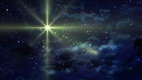 Notte stellata gialla Fotografia Stock