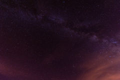 Notte stellata sopra Tenerife Immagine Stock