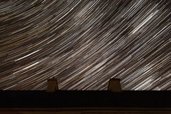Notte stellata stipata di Fotografie Stock