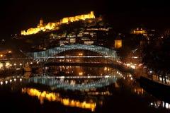 Notte Tbilisi fotografia stock libera da diritti