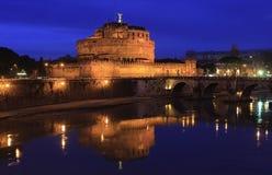 Notte a Tiber fotografie stock libere da diritti