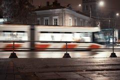 notte vaga del tram immagine stock libera da diritti