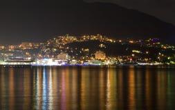 Notte Yalta fotografia stock