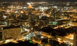 Notti Ariel di San Antonio Immagini Stock Libere da Diritti