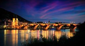 Notti del ponte Fotografie Stock Libere da Diritti