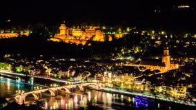 Notti 2 di Heidelberg Fotografia Stock Libera da Diritti