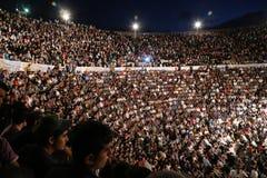 Notti di Jerash Fotografia Stock Libera da Diritti