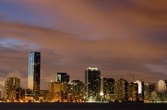 Notti di Miami Fotografie Stock Libere da Diritti