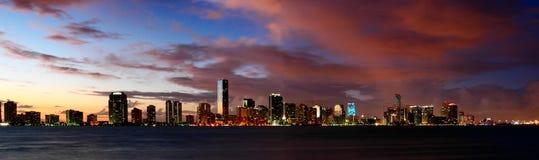 Notti di Miami Immagine Stock