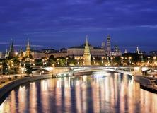 Notti di Mosca fotografie stock libere da diritti