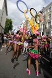 Notting Hill的狂欢节在西方伦敦,英国 图库摄影
