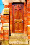 Notting   hill  area  in  antique     wall door Royalty Free Stock Photography