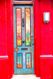 Notting   hill  area  in  england old     wall door Royalty Free Stock Photos