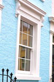 Notting   hill  area  in london  antique blue  wall Royalty Free Stock Photos
