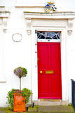 Notting hill  area  in london antique     wall door Royalty Free Stock Photos