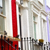 Notting   hill  area  in london england old suburban and antique Stock Photo
