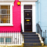 Notting hill  area  in london england old suburban and antique Royalty Free Stock Images