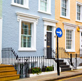Notting hill  area  in london england old suburban and antique Royalty Free Stock Photography