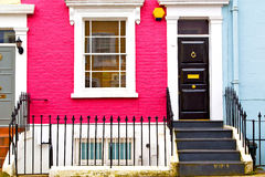 Notting hill  area  in london england old suburban Stock Images