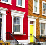 Notting hill  area  in london england old suburban and antique Royalty Free Stock Photos