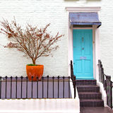 Notting   hill  area  in london england old suburban and flowers Stock Image