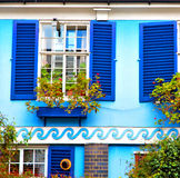 Notting   hill  area  in london england old suburban and flowers Royalty Free Stock Images